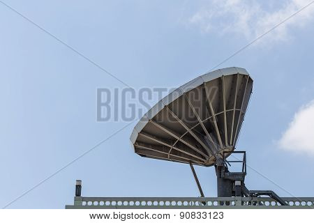 Big Satellite Dish On The Roof