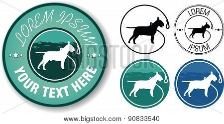 Vector walking dogs logo design