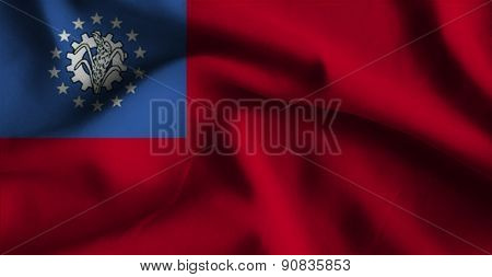 Flag Of Burma.