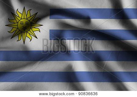 Flag Of Uruguay.