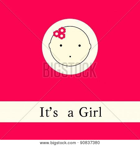 Bright Baby Girl Arrival Card