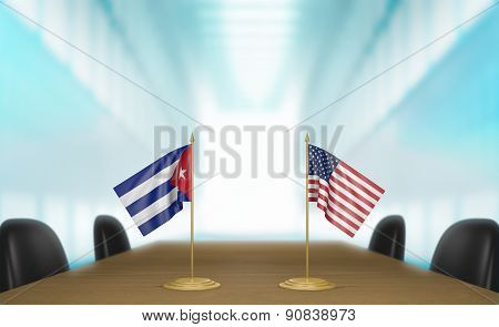 United States and Cuba economic trade deal talks
