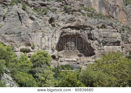 Greece, a cave in Chelmos mountains Peloponnese