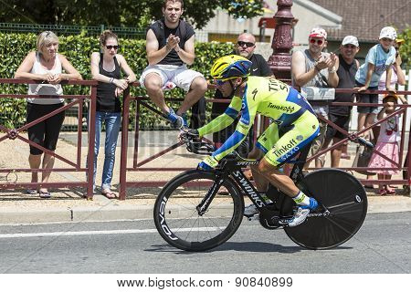 The Cyclist Sergio Paulinho - Tour De France 2014