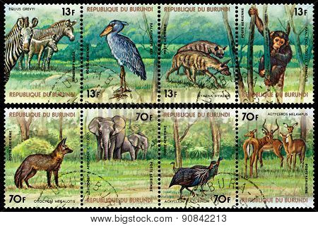 Vintage  Postage Stamp.  Animals Burundi.