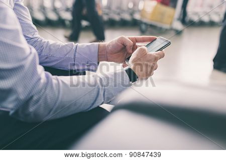 Texting At The Airport