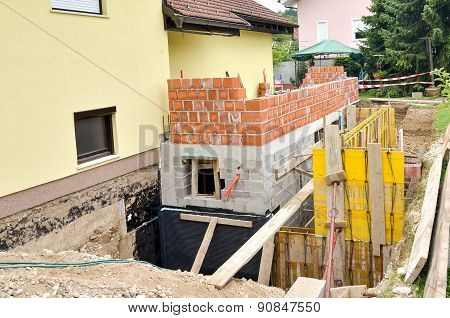 Formwork For The Concrete Stariway In A Family House