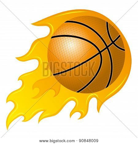 Vector sign. Basketball.