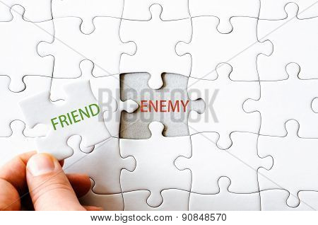 Missing Jigsaw Puzzle Piece With Word Friend