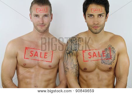 two sexy men for sale