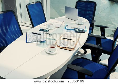 Table After Business Discussion