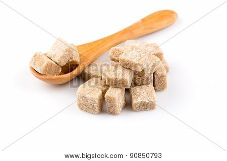 Brown Sugar In A Wooden Spoon