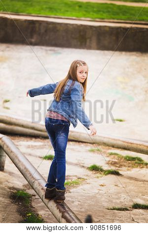 Playful Teenage Girl Portrait