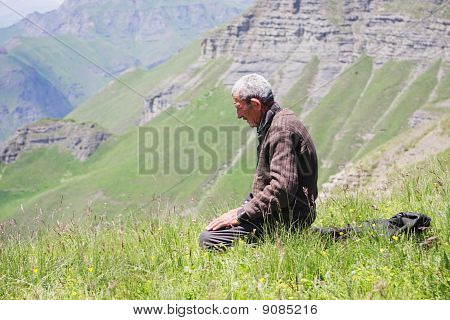 Praying Man Kneeling
