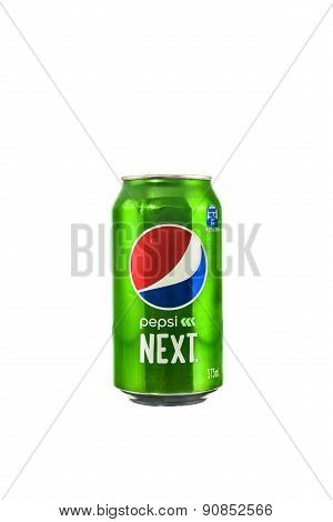 Sydney, Australia - September 21, 2015: A Pepsi Next On White Background