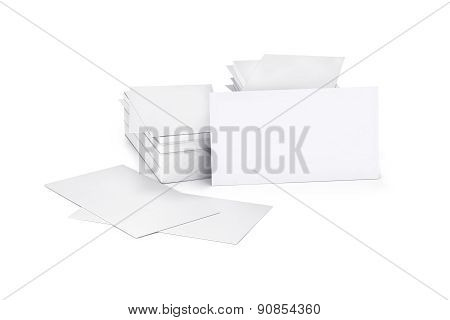 Blank Card, Cutaway, Isolated On White.
