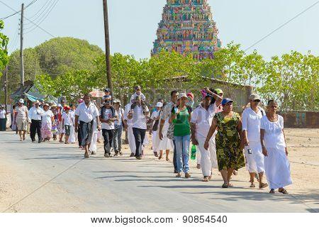 Tamil Hindu Temple In Jaffna, North Sri Lanka