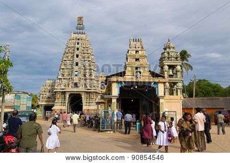 Hindu Temple In Trincomalee, Sri Lanka