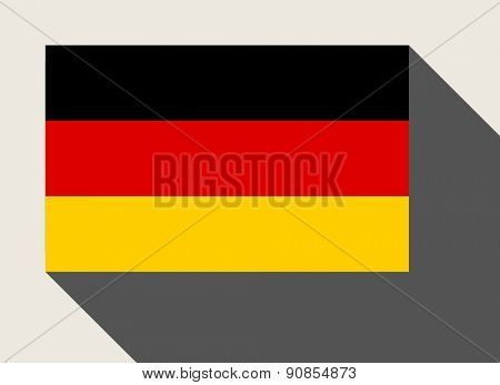 Germany flag in flat web design style.