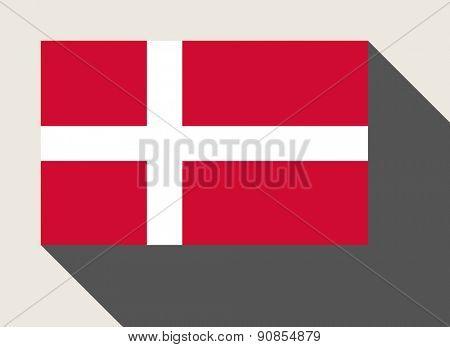 Denmark flag in flat web design style.