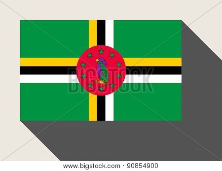 Dominica flag in flat web design style.