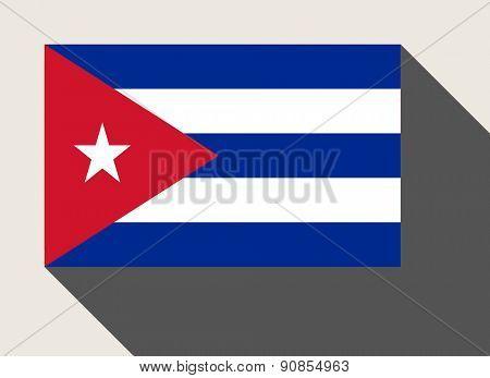 Cuba flag in flat web design style.