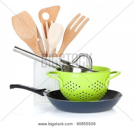 Cooking equipment. Isolated on white background