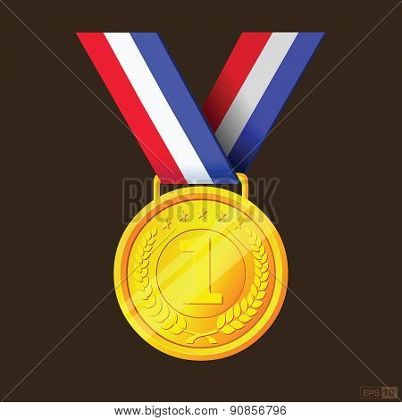 Gold Medal Or First Prize - Illustration