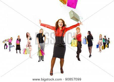 Women Shopping Spending is Fun