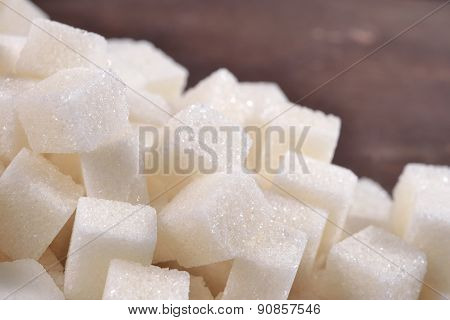 Heap Of Refined Sugar Close Up