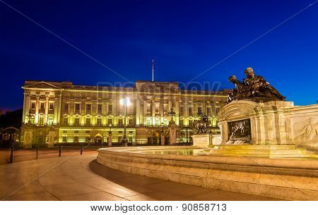 Buckingham Palace In The Evening - London, England