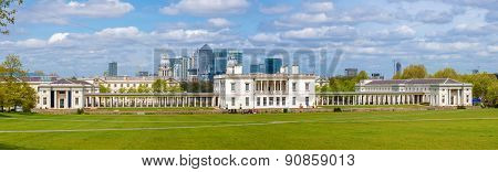 View Of The National Maritime Museum In Greenwich, London