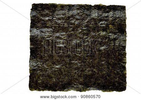 Nori Seaweed Sheet On A White