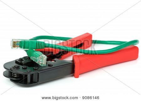 Crimping Cutting Tool And Green Patchcord
