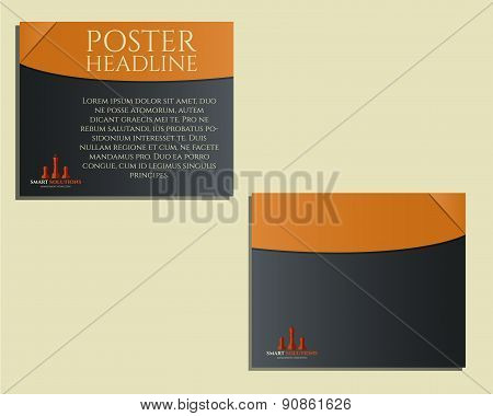 Smart solutions poster, Brochure and flyer design template with management Consulting keywords conce