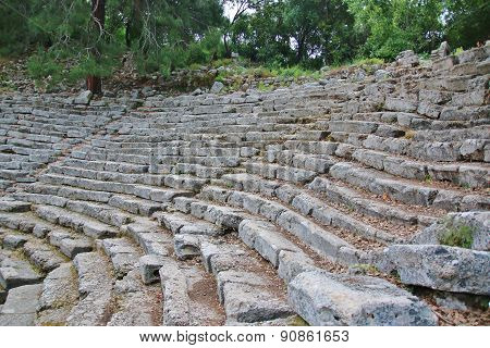 Old Amphitheater Phaselis In Antalya