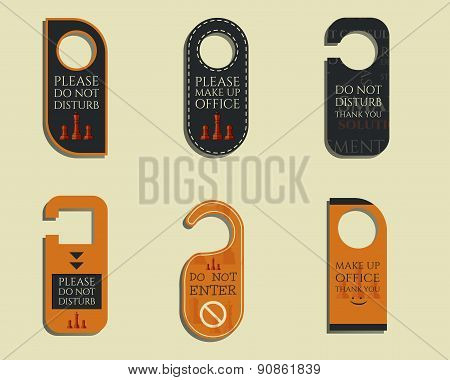 Business management consulting Door knob or hanger sign set- do not disturb design. Chess Smart solu