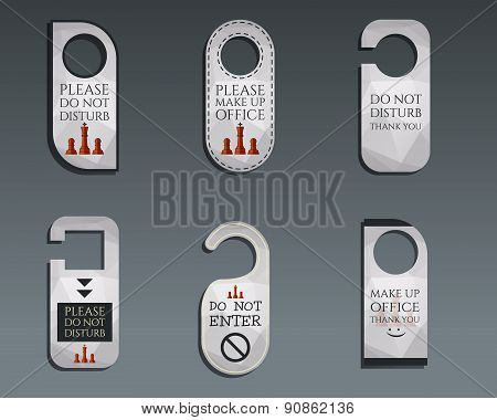 Business management consulting Door knob or hanger sign set- do not disturb design. Best for managem