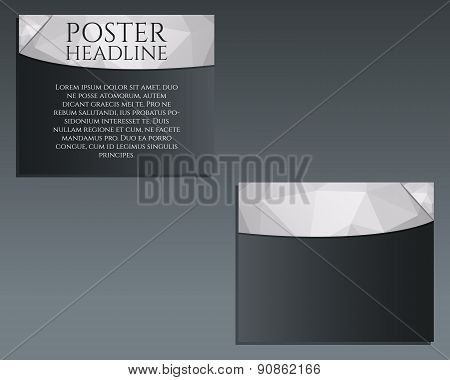 Business poster, Brochure and flyer design template. Best for management consulting, finance, law co