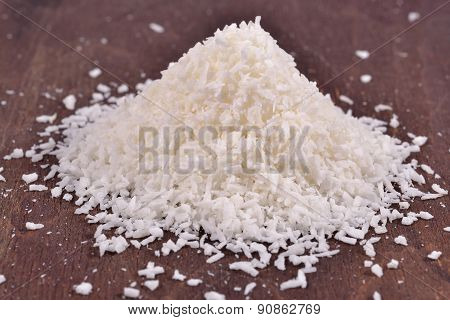 Pile Of Shredded Coconut