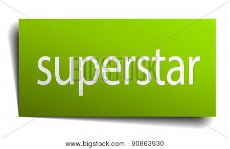 Superstar Square Paper Sign Isolated On White