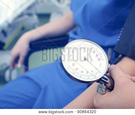 Blood Pressure Gauge In The Hospital
