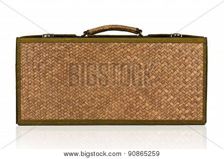Retro Wick Travel Bag Vintage Isolated On White Background.