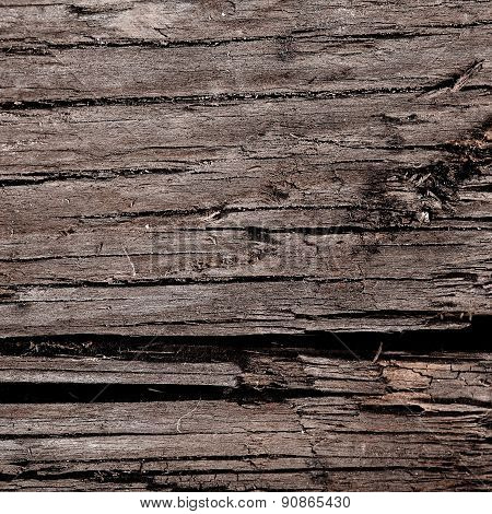 Old Cracked Wood Background Texture