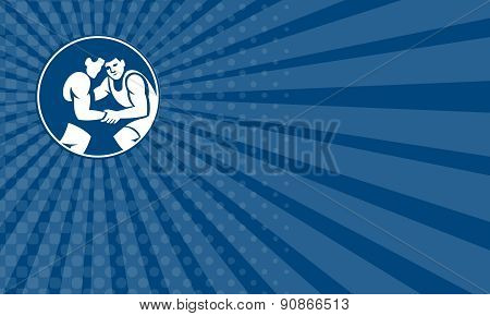 Business Card Wrestlers Wrestling Circle Icon