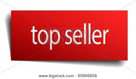 Top Seller Red Paper Sign On White Background