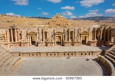 Ancient Jerash Jordan South Theater