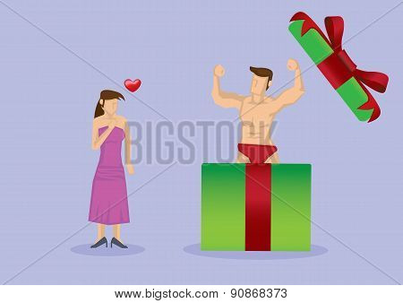 Sexy Hunk Surprise Gift For Her