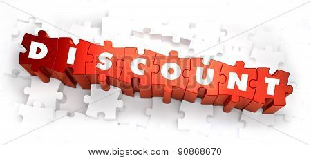 Discount - White Word on Red Puzzles.