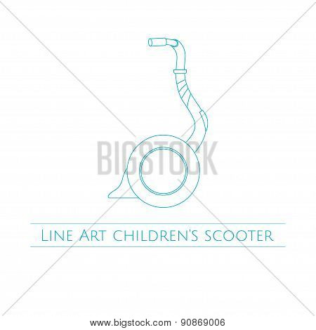 Line Art Childrens Scooter One